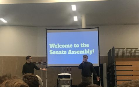 Co-presidents Ian N. and Liam M. lead the student senate assembly.
