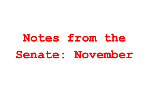 Student Senate November Update